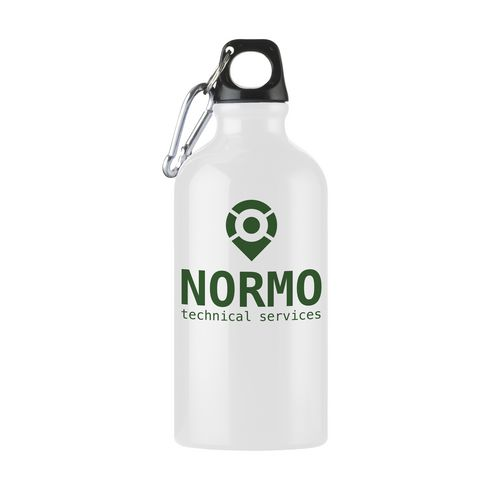 Vattenflaska i aluminium AluMini med logga· 500 ml