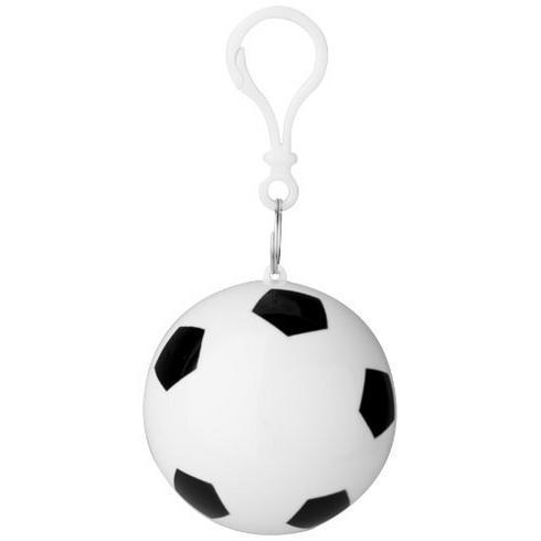 Xina regnponcho som förvaras i fotboll på en nyckelring