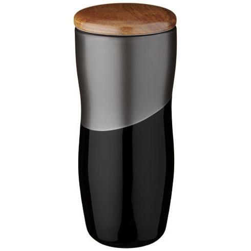 Reno 370 ml termosmugg i keramik med dubbelvägg