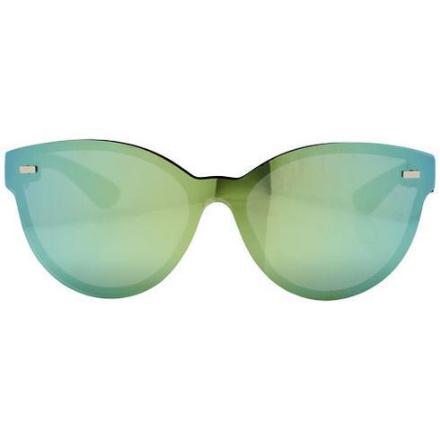 Solglasögon av typ Shield med helt speglad lins