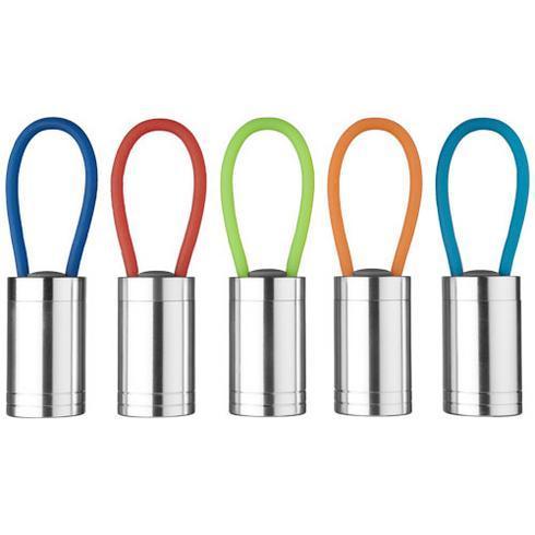 Vela 6 LED-ficklampa med lysande rem