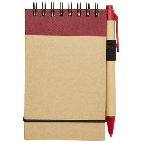 Zuse linjerat anteckningsblock A7 av återvunna material med penna