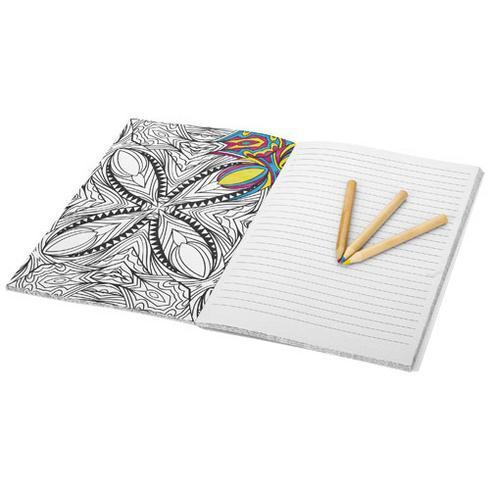 Doodle block för anteckningar och färgläggning
