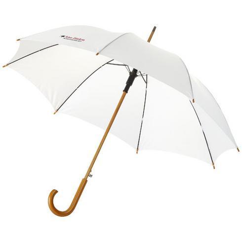 """Kyle 23"""" automatiskt paraply med skaft och handtag i trä"""