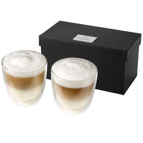 Boda 2-delars kaffeset i glas