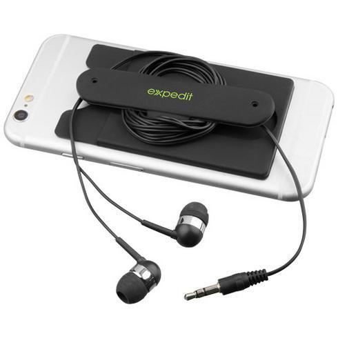 Wired öronsnäckor och telefonplånbok i silikon