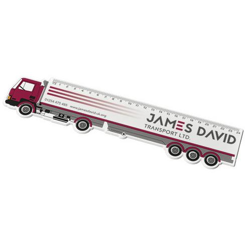 Larry 24 cm lastbilsformad plastlinjal