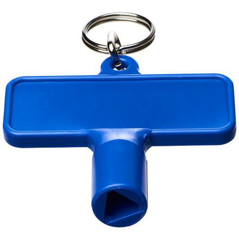 Maximilian rektangulär nyckelring med verktygsnyckel