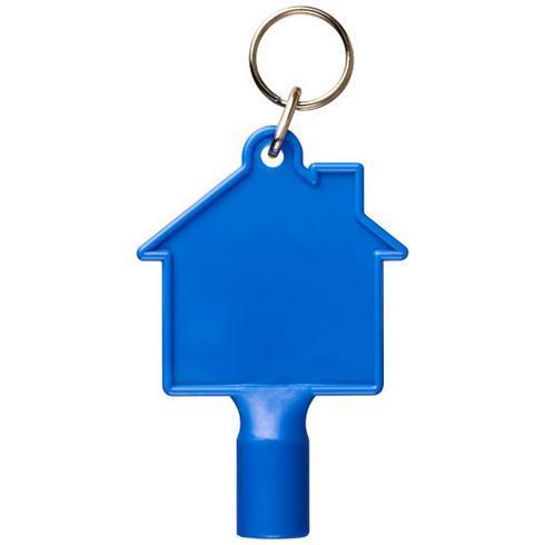 Maximilian husformad nyckelring med mätarskåpsnyckel