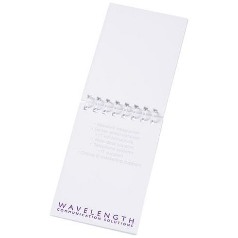 Desk-Mate® A7 anteckningsblock med syntetiskt omslag