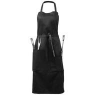 Bear BBQ apron with utensils