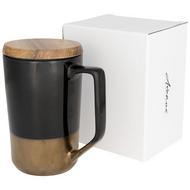 Tahoe te og kaffe keramiske krus med trelokk