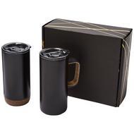 Valhalla Geschenkset aus zwei Kupfer-Vakuum Isolierbechern