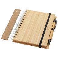 Franklin B6 bamboe notitieboekset met pen en liniaal