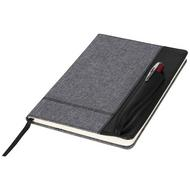 Heathered A5 notebook with leatherlook side