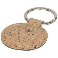 Cork-look rounded keychain