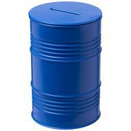 Tirelire en forme de baril de pétrole Banc