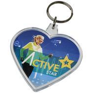 Porte-clés en forme de coeur Combo