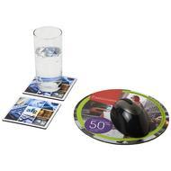 Q-Mat® Mousepad- und Untersetzer-Set 6
