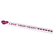 Loki 30 cm heart-shaped plastic ruler