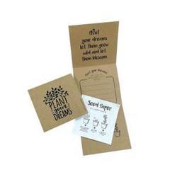 Carte de vœux en kraft avec papier à planter