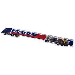 Loki 30 cm lastbilformad plastlinjal