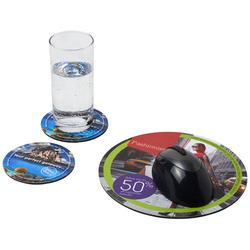 Q-Mat® Mousepad- und Untersetzer-Set 5
