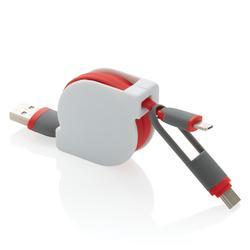3 i 1 uttrekkbar kabel