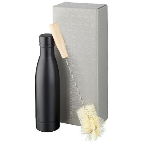 Vasa copper vacuum insulated bottle with brush set