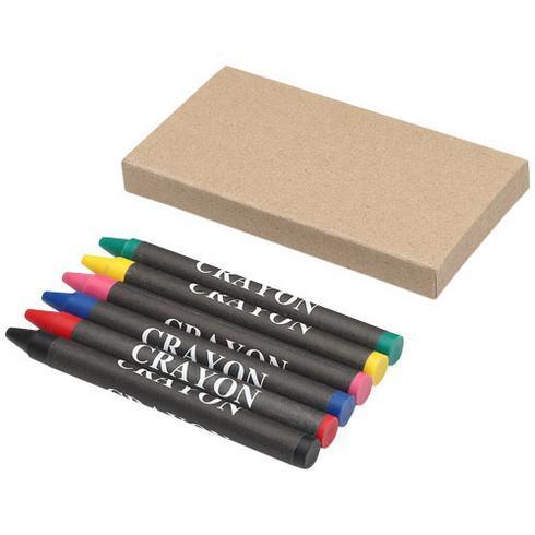 Ayo 6-piece coloured crayon set