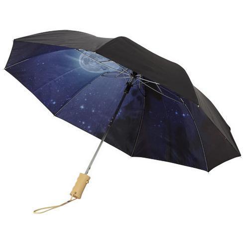 "Clear-night 21"" sammenleggbar automatisk paraply"