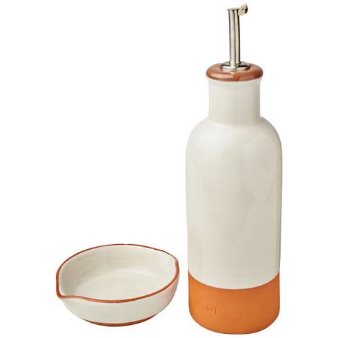 Terracotta drizzler and dip set