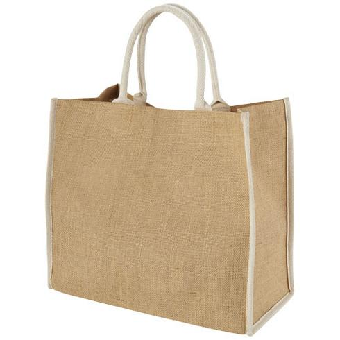 Harry coloured edge jute tote bag