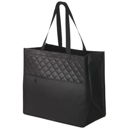 Quilto laminated non-woven shopping tote bag