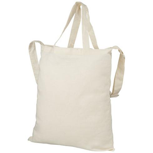 Verona 100 g/m² dual carry cotton tote bag