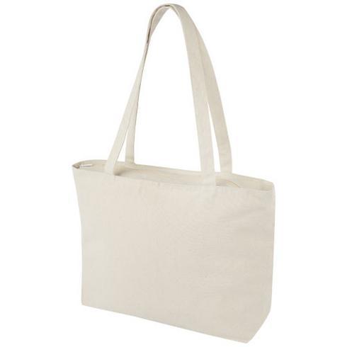 Sac shopping zippé coton 320 g/m² Ningbo