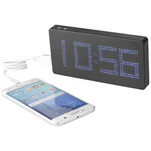 Powerbank 8000 mAh med LED display og klokke