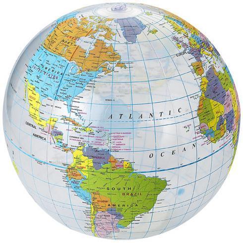Globe transparent beach ball