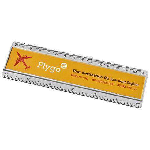 Ellison 15 cm plastic ruler with paper insert