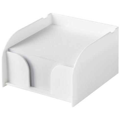 Bloc mémo avec support plastique, blanc