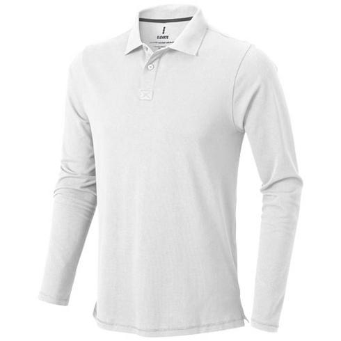 Oakville long sleeve men's polo
