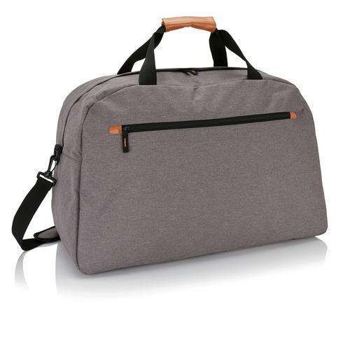 Muodikas kaksisävyinen matkalaukku