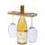 Support pour bouteille et verres de vin Mill
