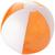 Orange translucide/blanc