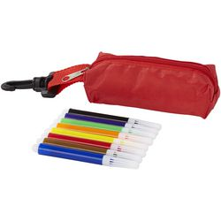 Bolt 8-piece coloured marker set with pouch