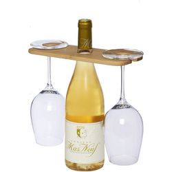 Miller wine bottle and glass carrying butler