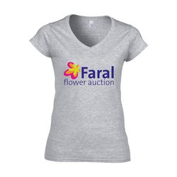 Gildan Softstyle V-Neck T-shirt femme