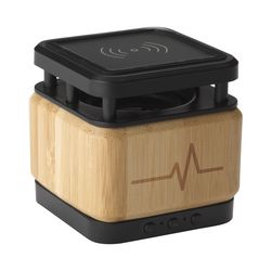 Bamboo Block Speaker with wireless charger