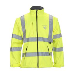 Vizwell High Visibility Softshell Jacke 2-in-1