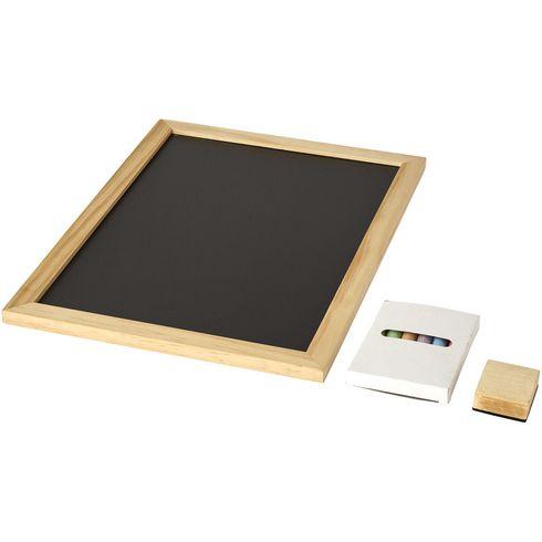 6 teiliges Set mit Tafel und Kreide